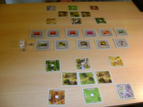 Rivals for Catan, starting positions