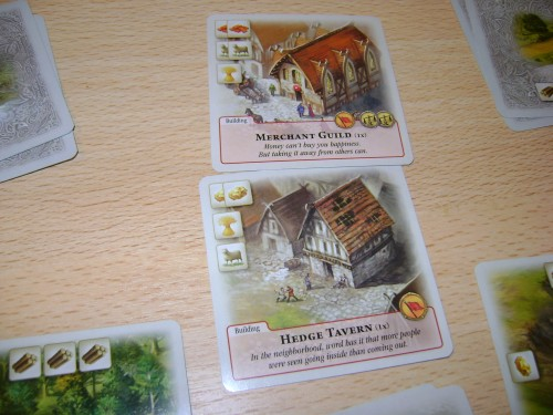 Rivals for Catan, two key buildings